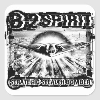 B-2 Spirit Square Sticker Sticker