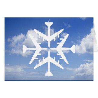 B-52 Aircraft Snowflake Card