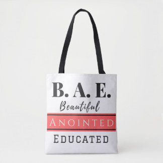 B.A.E. Bag Beautiful Anointed Educated Pink Tote