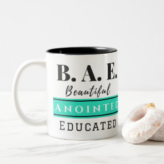 B.A.E. Beautiful Anointed Educated Aqua Mug