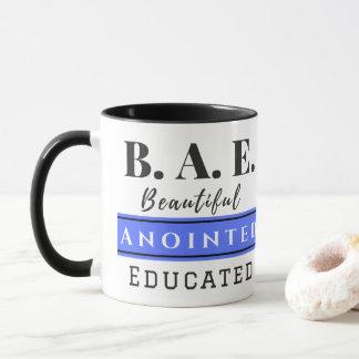B.A.E. Beautiful Anointed Educated Blue Mug