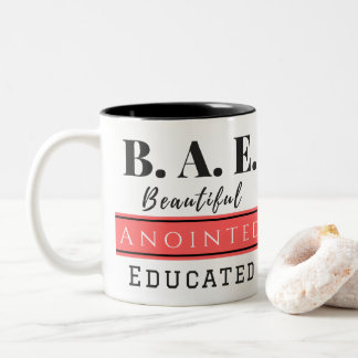 B.A.E. Beautiful Anointed Educated Pink Mug