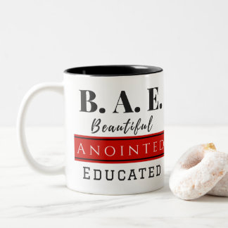 B.A.E. Beautiful Anointed Educated Red Mug