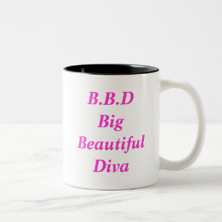 B.B.D Big Beautiful Diva Two-Tone Coffee Mug