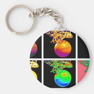 B-Ball Basketball Hoops Pop Art Key Chains