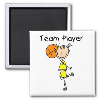 B-Ball Team Player Tshirts and Gifts Magnet
