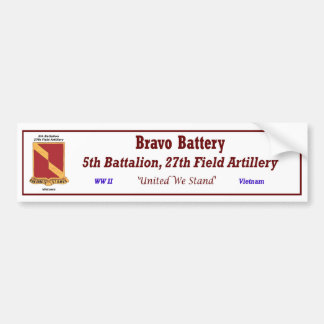 B Battery, 5/27th FA Bumper S. Bumper Sticker