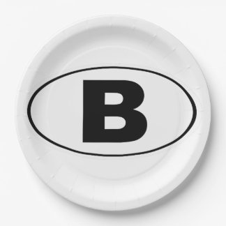 B Bellingham Washington Paper Plate