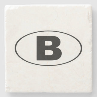 B Bellingham Washington Stone Coaster