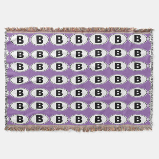 B Bellingham Washington Throw Blanket