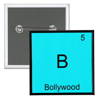 B - Bollywood Funny Chemistry Element Symbol Tee 2 Inch Square Button