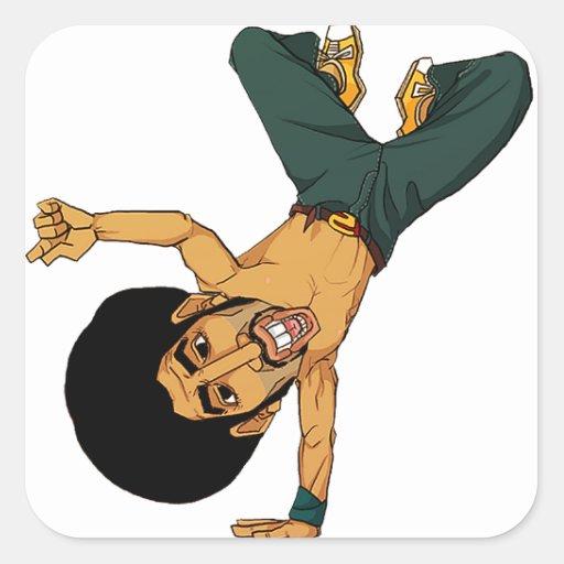 B-boy Afro man Sticker