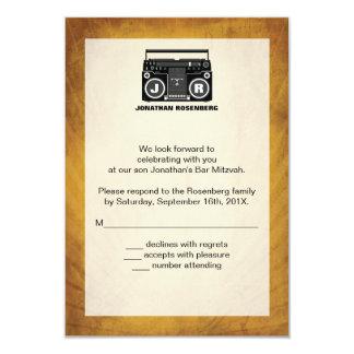 B Boy Bar Mitzvah Reply Card