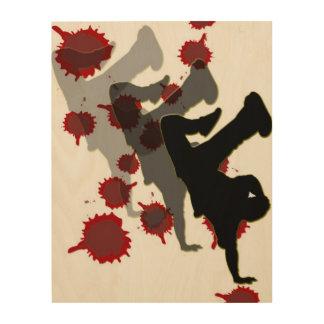 B-Boy Shadow Wood Wall Art