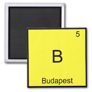 B - Budapest Funny Chemistry Element Symbol Tee Square Magnet