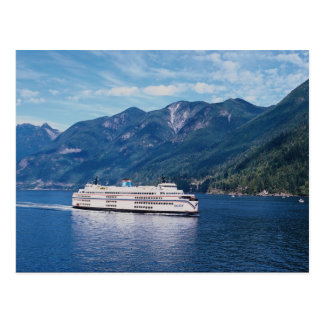 B.C. ferry from Vancouver to Nanaimo on Vancouver Postcard
