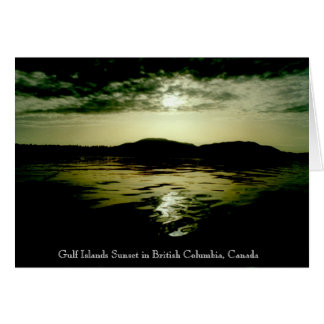 B.C. Islands Sunset Card
