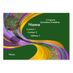 B-Card Mardi Gras-Green-V1 Large Business Cards (Pack Of 100)