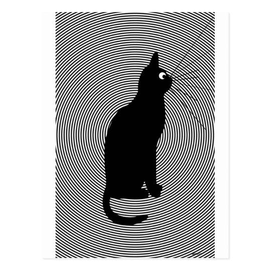 B cat postcard