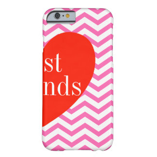 B Chevron Pink Best Friends Matching iPhone 6 Case