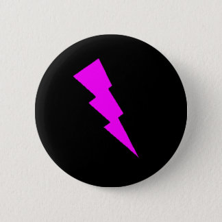 B. Chic: Pink Lightning 2 Inch Round Button