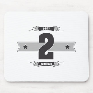 B-day 02 (Dark&Lightgrey) Mouse Pad