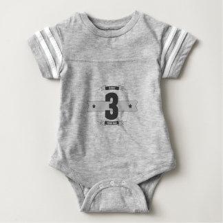 B-day 03 (Dark&Lightgrey) Baby Bodysuit