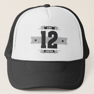 B-day 12 (Dark&Lightgrey) Trucker Hat