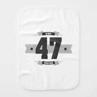 B-day 47 (Dark&Lightgrey) Burp Cloth