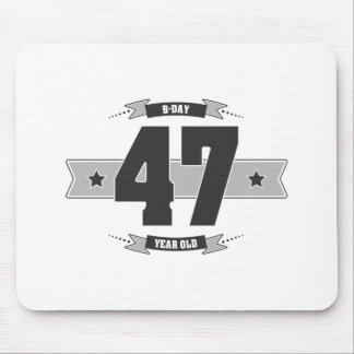 B-day 47 (Dark&Lightgrey) Mouse Pad
