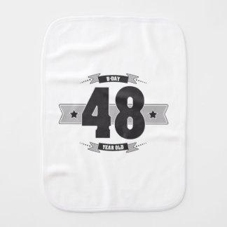 B-day 48 (Dark&Lightgrey) Burp Cloth