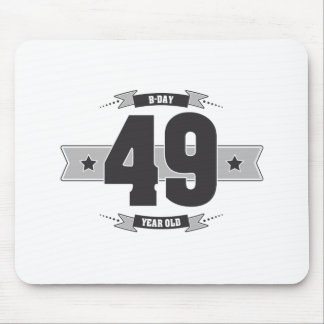 B-day 49 (Dark&Lightgrey) Mouse Pad