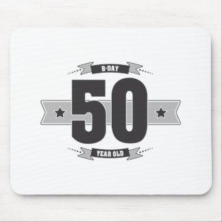 B-day 50 (Dark&Lightgrey) Mouse Pad
