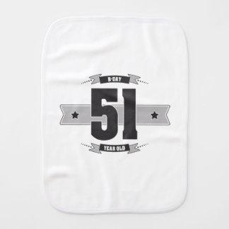 B-day 51 (Dark&Lightgrey) Burp Cloth