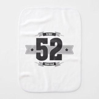 B-day 52 (Dark&Lightgrey) Burp Cloth