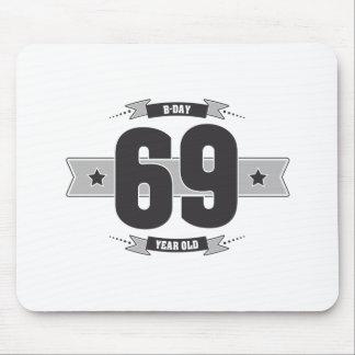 B-day 69 (Dark&Lightgrey) Mouse Pad