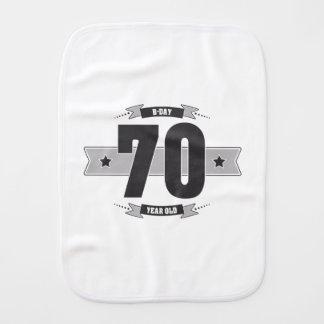 B-day 70 (Dark&Lightgrey) Burp Cloth