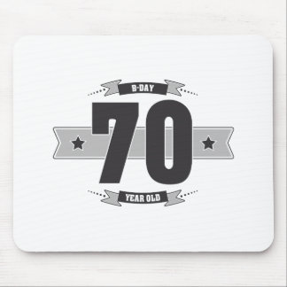 B-day 70 (Dark&Lightgrey) Mouse Pad