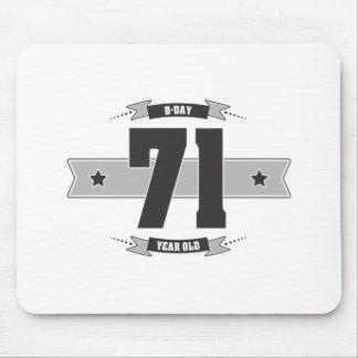 B-day 71 (Dark&Lightgrey) Mouse Pad