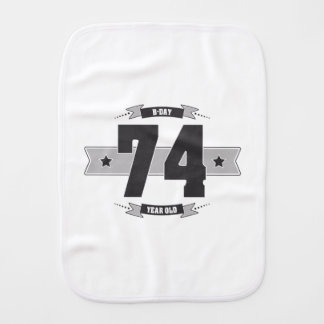 B-day 74 (Dark&Lightgrey) Burp Cloth