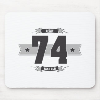 B-day 74 (Dark&Lightgrey) Mouse Pad