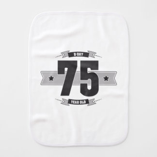 B-day 75 (Dark&Lightgrey) Burp Cloth