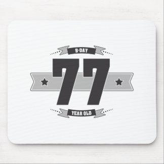 B-day 77 (Dark&Lightgrey) Mouse Pad