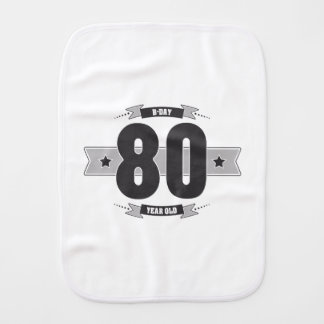 B-day 80 (Dark&Lightgrey) Burp Cloth