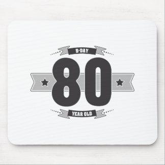 B-day 80 (Dark&Lightgrey) Mouse Pad
