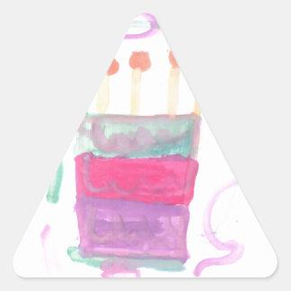B Day Cake Triangle Sticker