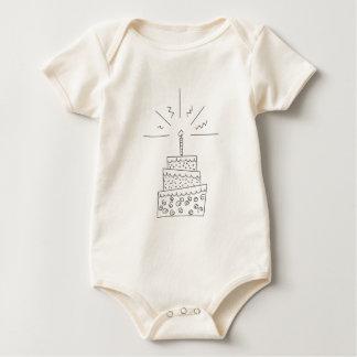 B-doodle dark baby bodysuit