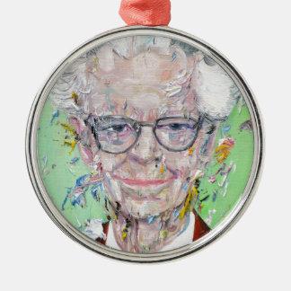 b.f. skinner - oil portrait metal ornament