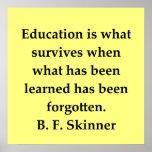 b f skinner quote poster