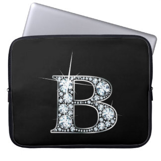 "B Faux-""Diamond"" Monogram Laptop Computer Sleeves"